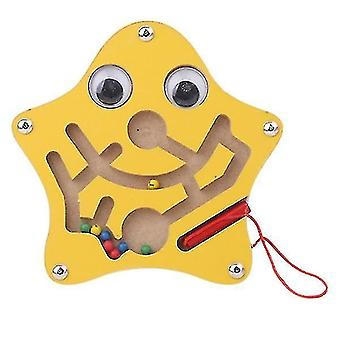 Mechanical puzzles children magnetic maze toy wooden puzzle game starfish