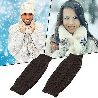 Fashion Unisex Men Women Knitted Fingerless Winter Gloves Soft Warm Mitten