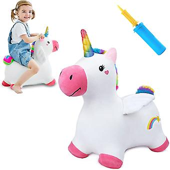 Children's Inflatable Unicorn Plush Toy Animal Toy Birthday Gift