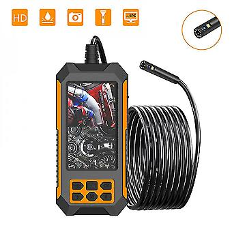 """4.5 """"ips Screen Dual Lens Industrial Endoscope 2.0 Mp Bore Scope Snake Camera Ip68 Sewer Pipe Drain Inspection Camera With 8 Led"""