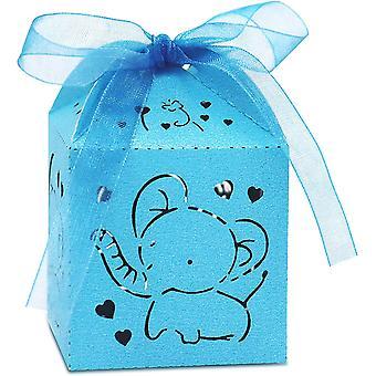 50 Geschenktüten, blaue Party Candy Box, geeignet für Jungen und Mädchen Geburtstage