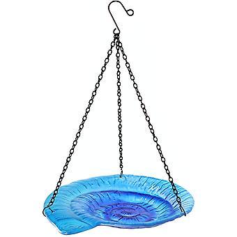 Hanging Bird Bath Outdoor Snail Pattern