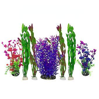 7pcs אקווריום גינון קישוט צמח סימולציה צמח מימי קישוט אקווריום אקווריום פלסטיק