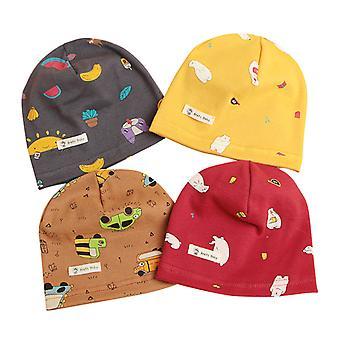 ילדים כותנה סרוגים בייבי כובע קריקטורה הדפס תינוק שזה עתה נולד וכובע פעוט M