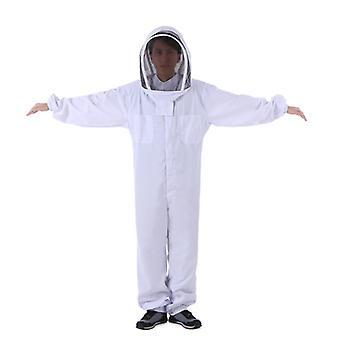 Biavler Ren bomuld Fortykket one-piece fuld sæt anti-bi beskyttelsesbeklædning (hvid Xxl)