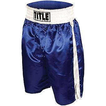 Title Professional Boxing Trunks - Blue/White