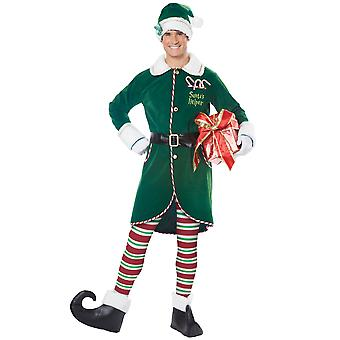 Workshop Elf Santa Helpers Christmas Xmas Party Dress Up Men Costume