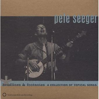 Pete Seeger - importation USA manchettes & Notes [CD]
