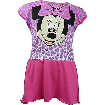 Las niñas Disney Minnie Mouse / manga vestido corto