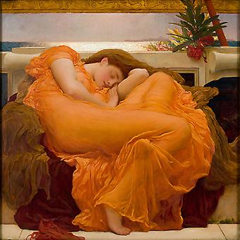 Frederick Leighton - Flaming juin 1895 affiche impression Giclée