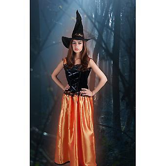 Vrouwen kostuums vrouwen heks oranje Alexandria