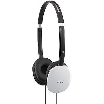 JVC HA-S160-W Flats Foldable Style Stereo Headphone - White