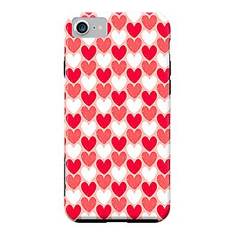 ArtsCase Designers Cases Red Hearts for Tough iPhone 8  / iPhone 7