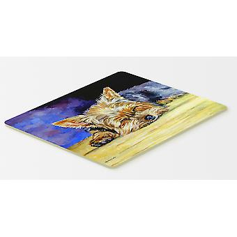 Carolines Treasures  7357CMT Yorkie Taking a Nap Kitchen or Bath Mat 20x30