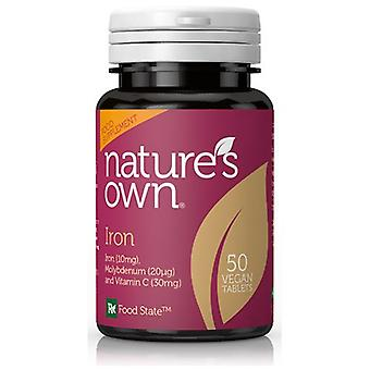 Natures Own Food State Iron, 50 tablets
