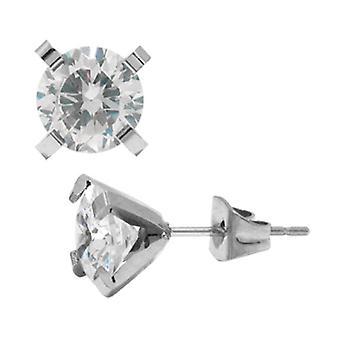 Earring 316L stainless steel cubic zirconia Stud Earrings