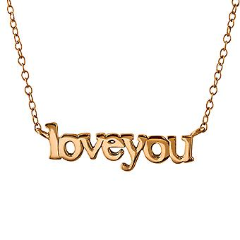 Love You Inline - 925 Sterling Silver Plain Necklaces - W22372x