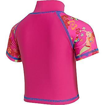Zoggs Junior ragazze sirena fiore sole protezione nuotare Top Pink per 1-6 anni