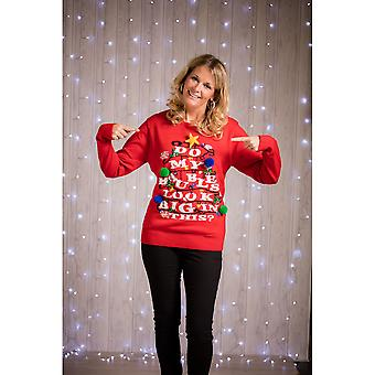 Christmas Shop Adults Do My Baubles Look Big In This? Light Up Jumper
