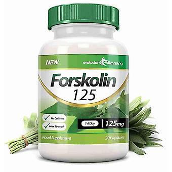 Forskolin 125 125 mg kapsler - 30 kapsler - fedtforbrænder og metabolisme Booster - Evolution slankende
