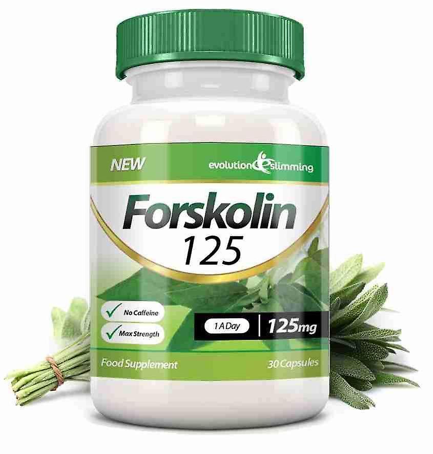 Forskolin 125 125mg Capsules - 30 Capsules - Fat Burner and Metabolism Booster - Evolution Slimming