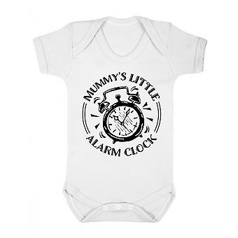 FLOSO Baby Girls/Boys Mummys Little Alarm Clock Short Sleeve Bodysuit