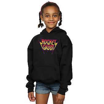 Marvel Girls Guardians Of The Galaxy Vol. 2 Rocket And Groot Metal Logo Hoodie