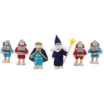 Bigjigs Toys Wooden Heritage Playset Knights Figure Set Accessories