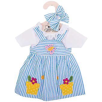 Bigjigs Toys Striped Rag Doll Dress (38cm) Soft Ragdoll Outfit