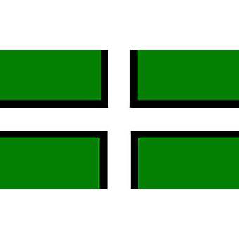 Devon vlag 5 ft x 3 ft met oogjes voor verkeerd-om