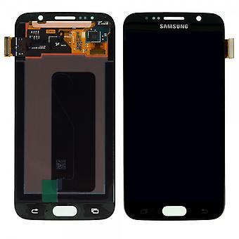 Дисплей LCD полный набор сенсорный экран черный для Samsung Галактика S6 G920 G920F