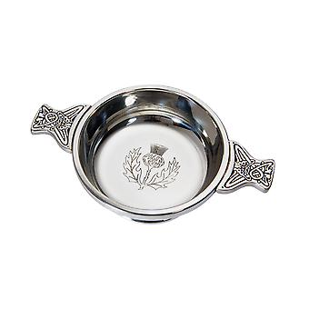 Celtic Thistle Medium Pewter Quaich