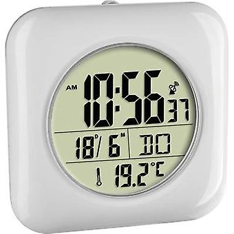 TFA Dostmann 60.4513.02 Radio Wall clock 170 mm x 170 mm x 60 mm White Suitable for bathrooms/wet rooms