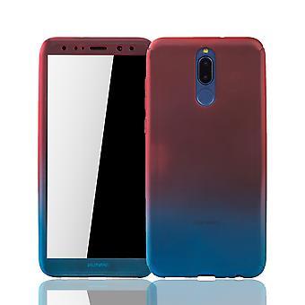 huawei mate 10 lite puhelimen tapauksessa tapauksessa kattaa säiliön suojalasi punainen / sininen