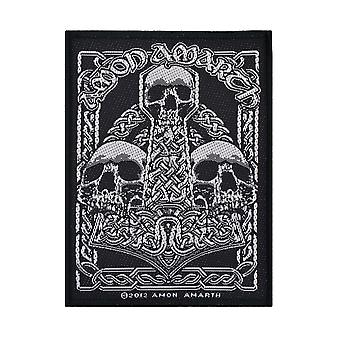Amon Amarth Three Skulls Woven Patch