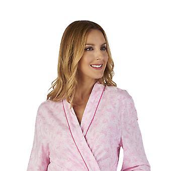 Slenderella HC2108 Women's Meadow Jersey Floral Robe Dressing Gown
