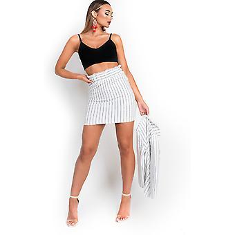 IKRUSH dame Lotte Nørgaard Paperbag Pin-stribede nederdel