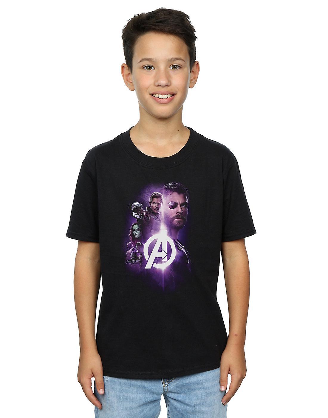 Marvel Boys Avengers Infinity War Thor Guardians Team Up T-Shirt