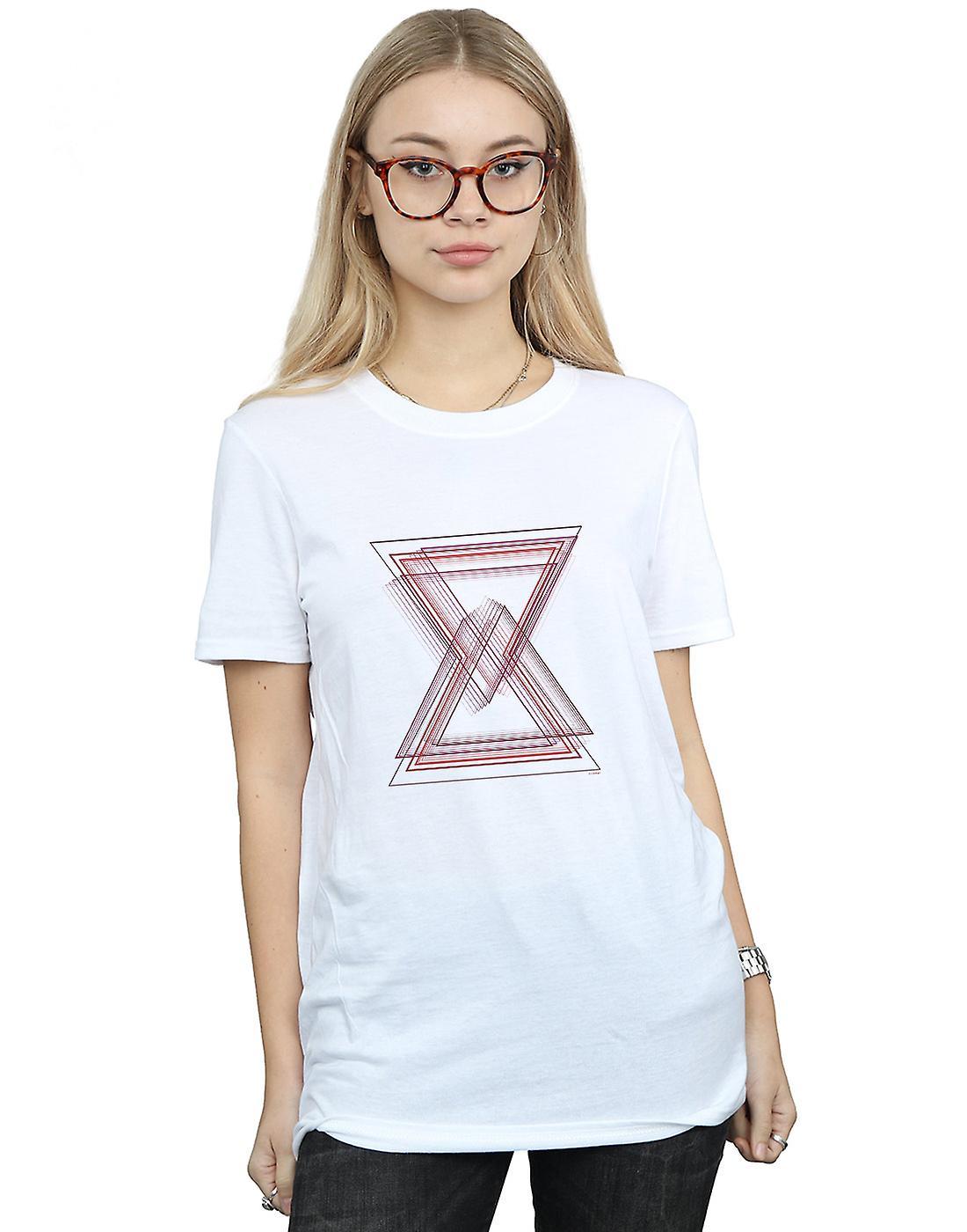 Marvel Women's Avengers Infinity War Black Widow Lines Boyfriend Fit T-Shirt