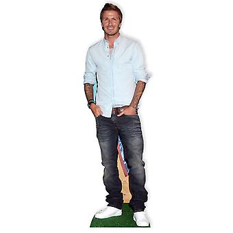 David Beckham grandeur nature en carton Découpe / Standee / Standup