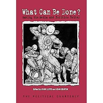 Wat kan worden gedaan?: maken van de Media en politiek beter (politieke driemaandelijkse speciale nummers)