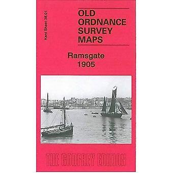 Ramsgate 1905: Kent Sheet 38.01 (Old Ordnance Survey Maps of Kent)