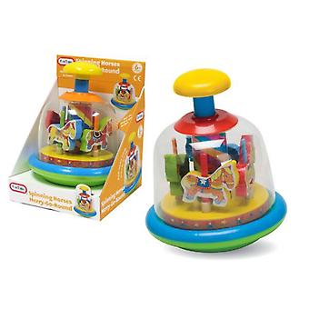 FUN TIME Baby Toddler Merry Go Round Spinning Horses Spin Top Kids Learning Toy