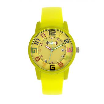 Crayo Festival Unisex Watch w/ Date - Yellow