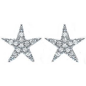 בלה עגילי כוכב מעוקב עם זירקונים