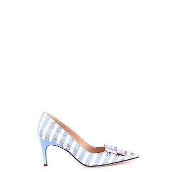 Sergio Rossi Ezbc040006 Femmes-apos;s Light Blue Fabric Pumps