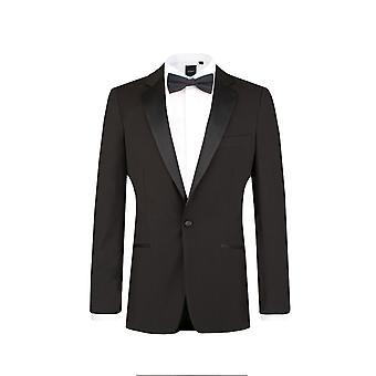 دوبيل رجالي أسود 2 قطعة ملابس السهرة للرجال نحيل صالح الشق طية صدر السترة مساء عشاء دعوى