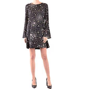 Boutique Moschino Ezbc170014 Women's Black Silk Dress