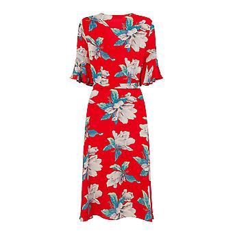 Girls On Film Womens/Ladies Frill Wrap Midi Dress