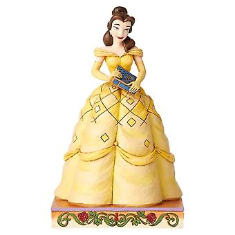 Disney Traditions Belle Princess Passion ' Book-Smart Beauty ' Figurine